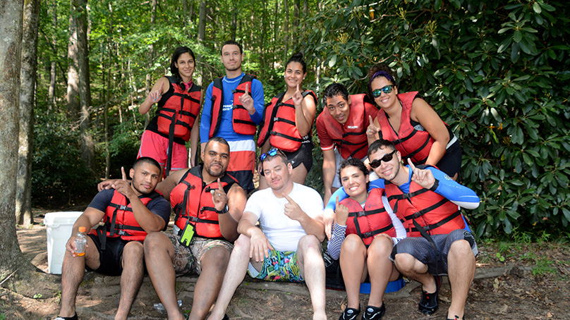 Teambuilding with Pocono Whitewater Rafting