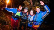 Big Night Out, raft, bike explore the night, moonlight rafting, nightlife, night time, Poconos, Jim Thorpe