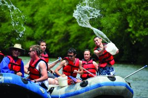 pocono whitewater rapids rafting raft group Poconos free group leader benefits